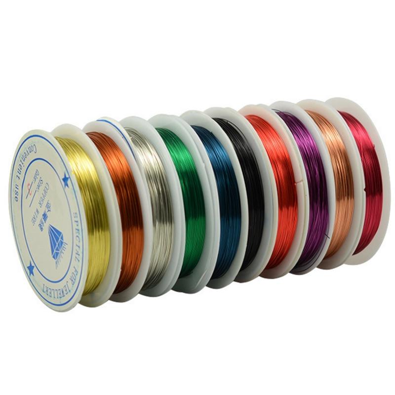 Copper Wire 0.25/0.3/0.4/0.5/0.6/0.8/1.0mm 30/15/10/6.5/3.5/2.5 Meter Long Diy Light Copper Wire Jade Wholesale
