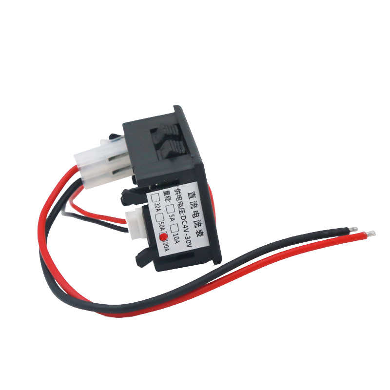 10 шт./лот 3 Бит Мини светодиодный цифровой панельный измеритель тока Амперметр дисплей ампер тестер автомобильный аккумулятор модульный Амперметр DC0.0-100A