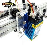 cnc חותך מודול לייזר קבועה מוקד 33mm 450nm 15W 15000mW מודול לייזר כחול TTL / PWM DIY CNC Machine חותך לייזר מכונת חריטה CNC (2)