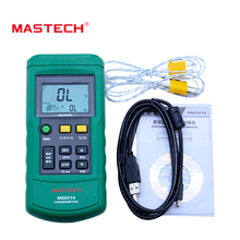 MASTECH MS6514 Dual Channel Digital Thermometer Temperature Logger Tester USB Interface 1000 Set Data K/J/T/E/R/S/N Thermocouple