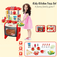 Kids Kitchen Toys Set Play House Tableware Table Kitchenware Cooking Tool Family Game Educational Equipment Baby GiftRP60