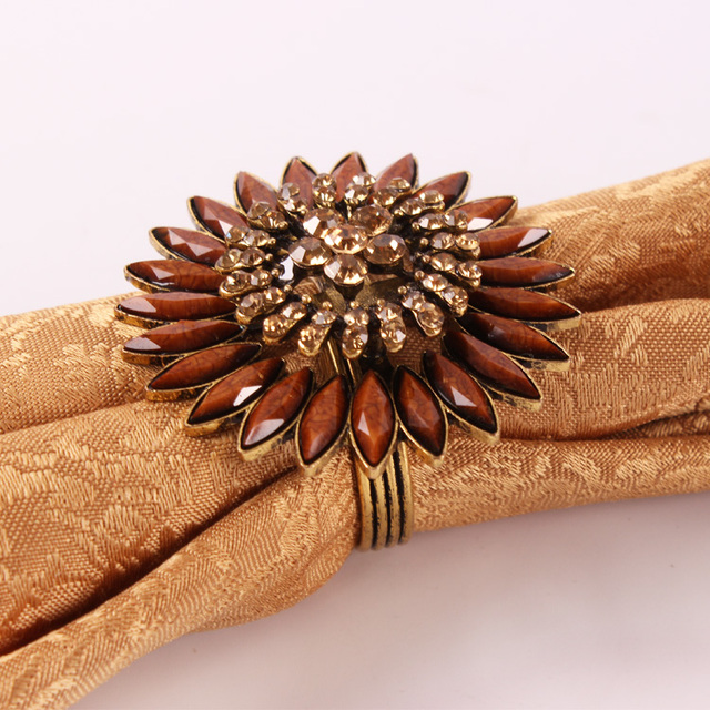 Luxury  napkin button, Napkin Rings for Weddings, Dinners, Parties, or Everyday Use