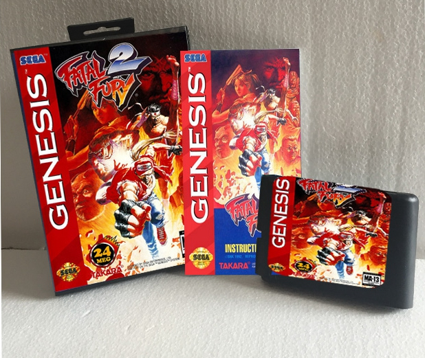 Fatal Fury 2 With Box And Manual 16bit MD Game Card For Sega Mega Drive For Genesis