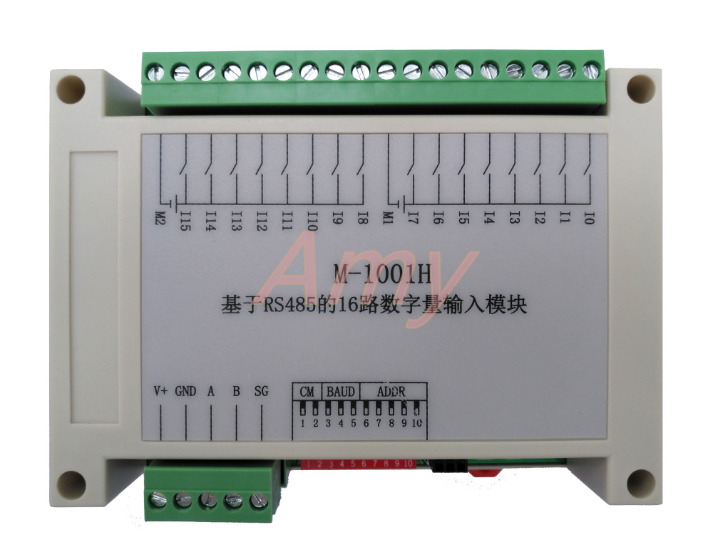 M-1001H Modbus Based 16 Channel Isolated Digital Input Module (PNP Type) 110VDC Input