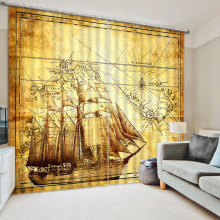 High quality custom 3D Window Curtain Dinosaur print Luxury Blackout For Living Room map curtains(China)