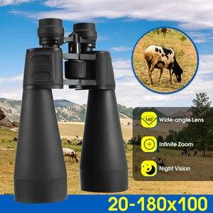 Высокой четкости бинокль портативный V20x180x100 высокой мощности профессиональный телескоп оптический Lll ночного видения бинокль для охоты