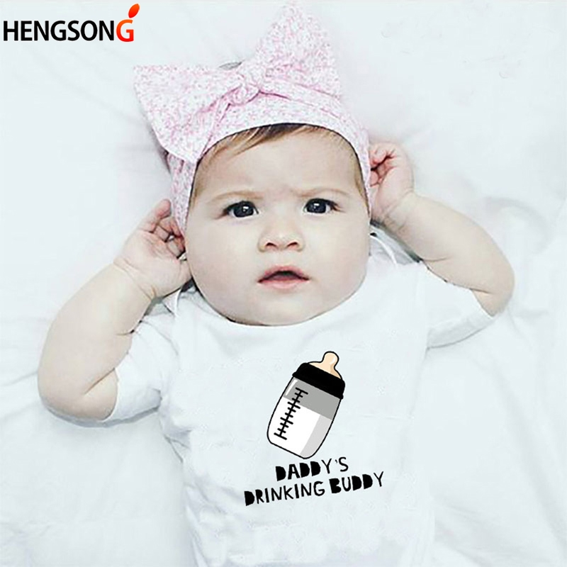 5cf43d30b1d34 US $3.03 41% OFF|HENGSONG 0 3 Month Newborn Baby Girls Milk Bottle Print  Clothes Kids Summer Casual White Romper Jumpsuit Outfits Playsuit-in  Rompers ...