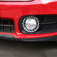 2Pcs ABS Car Front Fog Lamp Frame Cover Decorative Trim Ring Sticker For Mini Cooper F60