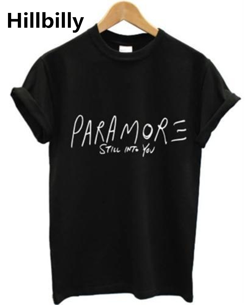 2016 New T-Shirts For Lovers Men & Women PARAMORE STILL INTO YOU Letters 100% Cotton Casual T Shirts Brand Clothing Tees & Tops