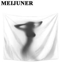 Meijuner Sexy Women Shadow Wall Tapestry Window Decor Printing Polyester Fabric Beach Towel Wall Hanging Tapestry For Home MJ136 beach style polyester fabric wall hanging tapestry