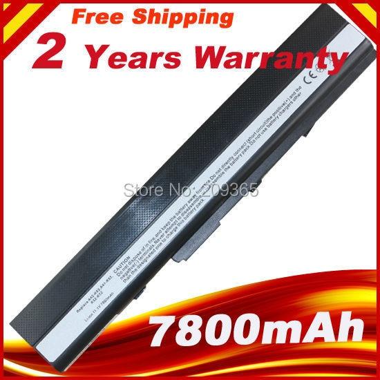 7800 MAh Battery For ASUS X52D X52DE X52DR X52F X52J X52JB X52JC X52JE X52JG X52JK X52JR X52N A32-K52 A32-K42