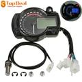 Blue Universal Motorcycle Motorbike LCD Digital Speedometer Odometer Tachometer