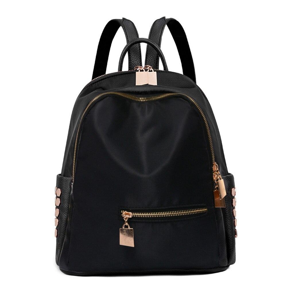 Backpack Women Solid Backpack Female Backpackschool Book Travel Bag Backpacks For Teenage Girls Deri Sirt Cantasi