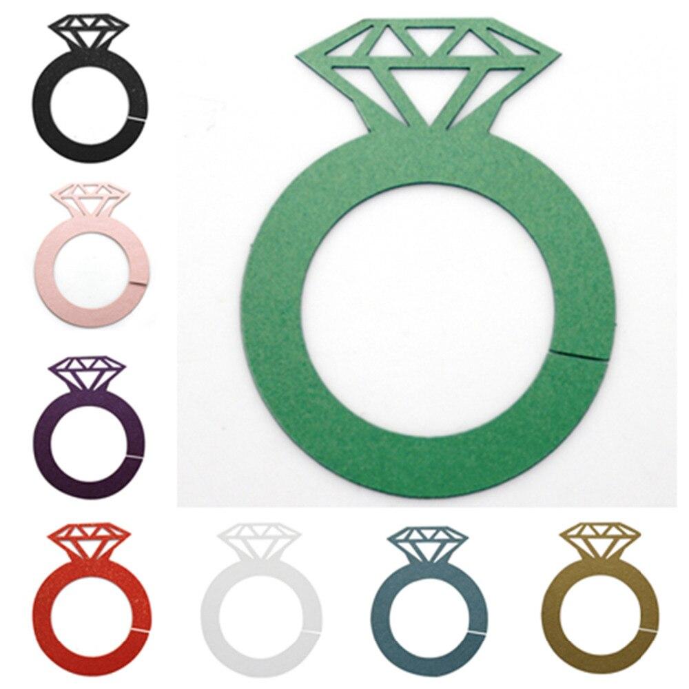 New 12Pcs Wine Charms Wine Tags Name Tags Diamond Rings Shape Glass ...