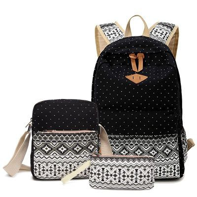 2017 Korean Canvas Printing Backpack Women School Bags for Teenage Girls Cute Bookbags Vintage Laptop Backpacks Female 3price