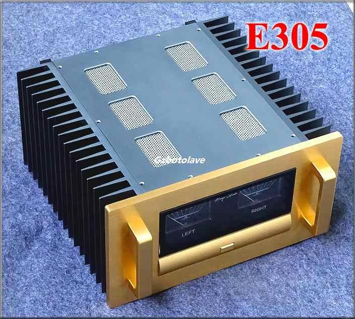 סופר כונן כוח סיים A7 VU מטר מגבר 400-ואט MOSFET כוח מגבר סטריאו HiFi Amp REF E305 מעגל
