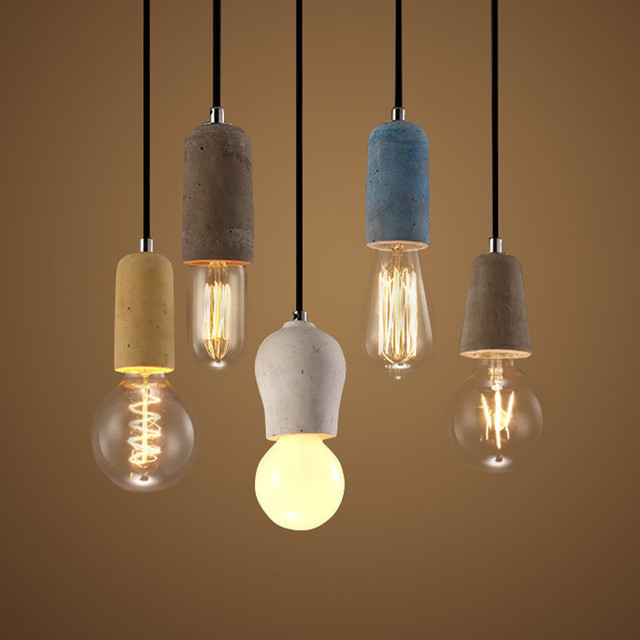 creative brief colorful Concrete single head pendent lamp for reading room dining room E27 90-265v 1373