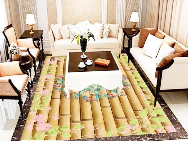 Cinese 3D Sfondi Pavimenti In Carta Da Parati Per Il Bagno bamboo ...