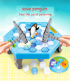 Ice Breaking Game Saving The Penguins Kids Desktop Board Game Antistress Toy Family Party Parent-child Educational Blocks Toys