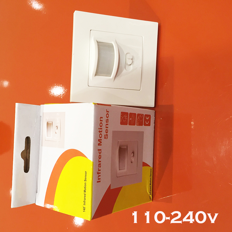 New Arrival 10m ac110-240V Security PIR Infrared Motion Sensor Detector Wall LED Light switch RF140 degree 1pc 1 pcs x hc sr505 mini infrared pir motion sensor precise infrared detector module new