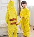 2016 Хэллоуин Покемон Пикачу Cospaly Костюм Для Детей Японии Аниме Пикачу Фланель Пижамы Мужской Пижамы Детей