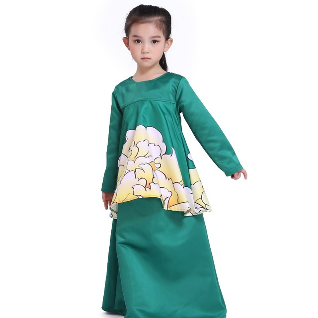 dress for girl baby clothes muslim baby girl dress new year clothes