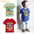 Kindstraum 2-8Y Kids Summer T shirt Boys Cotton Quality Pokemon Go Game Logo Cartoon Printed Children Brand Clothing Tees, MC308