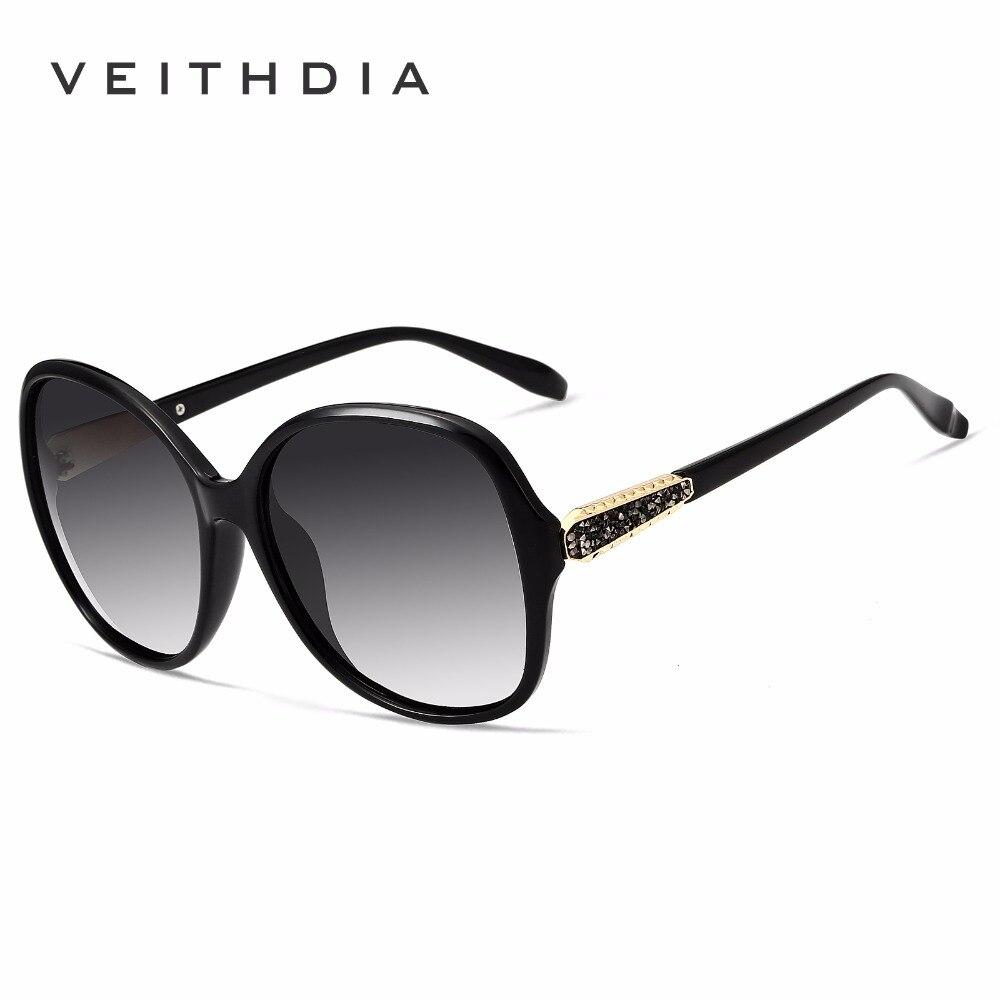 VEITHDIA Merek Desainer Wanita Antik Kacamata Terpolarisasi Retro Mewah Perempuan  Kacamata Matahari gafas oculos de sol 0040ebe39a