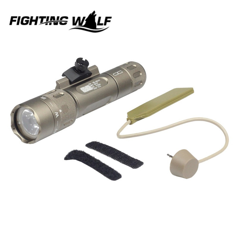 Airsoft Paintball WMX200 Tactical Light Fixed Rail Mount Version Durable Military Army Gun Flashlight for Hunting Shooting !