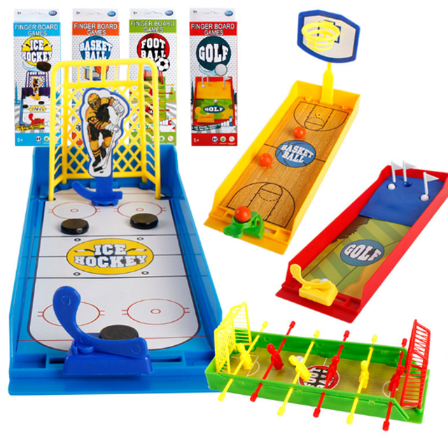 1 Pcs Set New Finger Football Shot Game Table Top Board Family