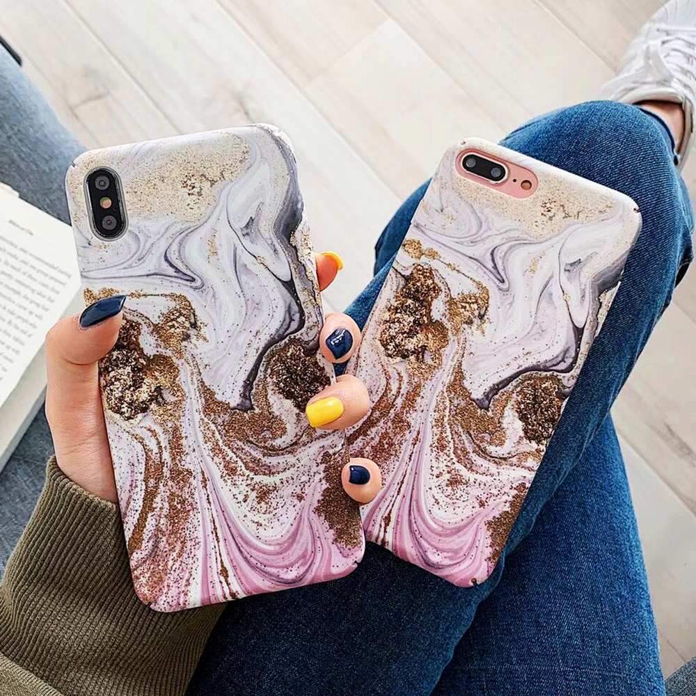 KIPX1093_4_JONSNOW Marble Pattern Phone Case for iPhone XS XR XS Max 7 8 Plus 6S 6 Plus Case Fashion All-inclusive PC Hard Back Cover Capa Fundas