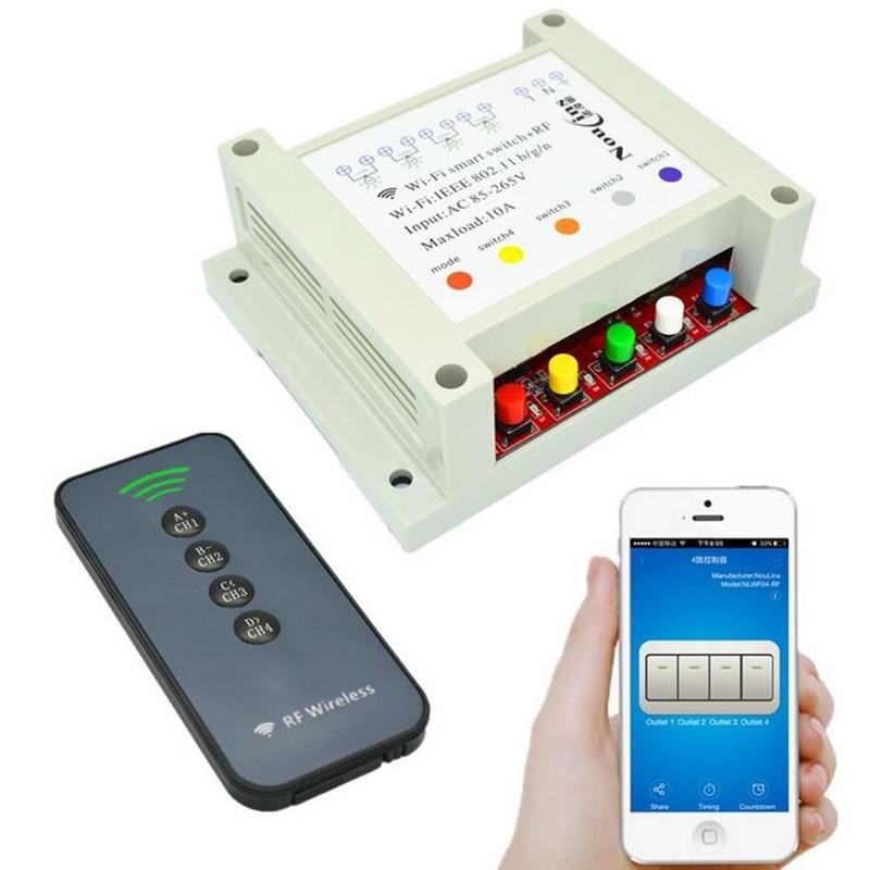 4 Way Switch Wifi Smart 433mhz Remote Control Wireless Diy