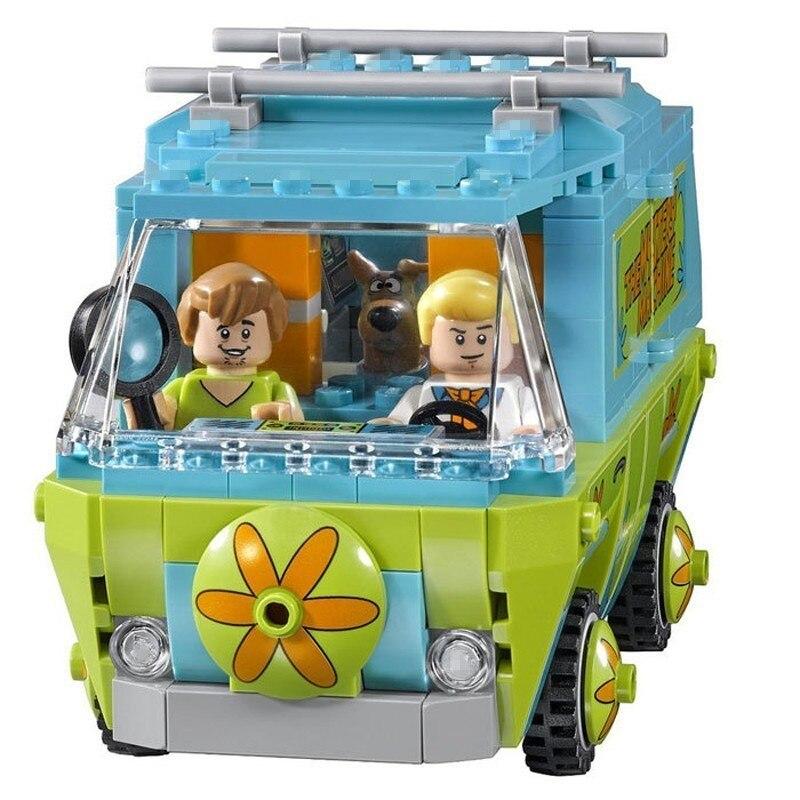 305 piezas la máquina del misterio autobús Bela Scooby-Doo serie de construcción bloques Compatible con Legoingly 75902 ladrillos juguetes para los niños