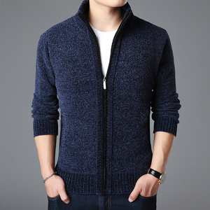 Image 3 - 2020 New Fashion Brand Sweater For Mens Kardigan Thick Slim Fit Jumpers Knitwear Warm Autumn Korean Style Casual Clothing Male