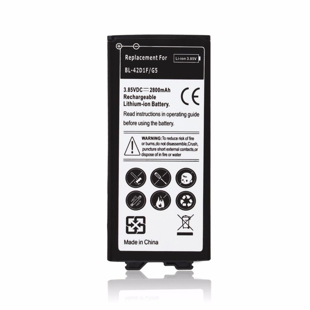 2800mAh 3.85VDC Replacement Li-ion Battery BL-42D1F For LG G5 H850 US992 F700S H860 2800mAh Cell Phone Batterie Bateria Batterij