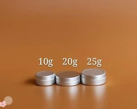 100pcs lot 10g 20g 25g Aluminum Cream Jar Pot Nail Art Makeup Lip Gloss Empty Cosmetic