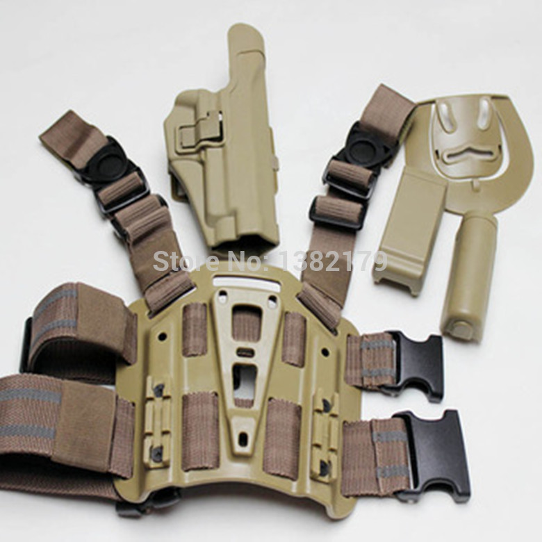 For Sig 220/226/228/229 Tactical Airsoft Drop Leg Right handed holster Set W/ Panel Mag Flashlight Pouch Belt Loop paddle Sand ultimate arms gear dark earth tan tactical scenario military hunting assault vest w right handed quick draw pistol holster and heavy duty mag pouch belt od olive drab green 2 5 liter 84 oz replacement hydration backpack water bladder reservoir in