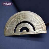 CCCAGYA H003 length 10cm high quality copper Protractor Office & School Supplies School Educational Supplies Measuring tools