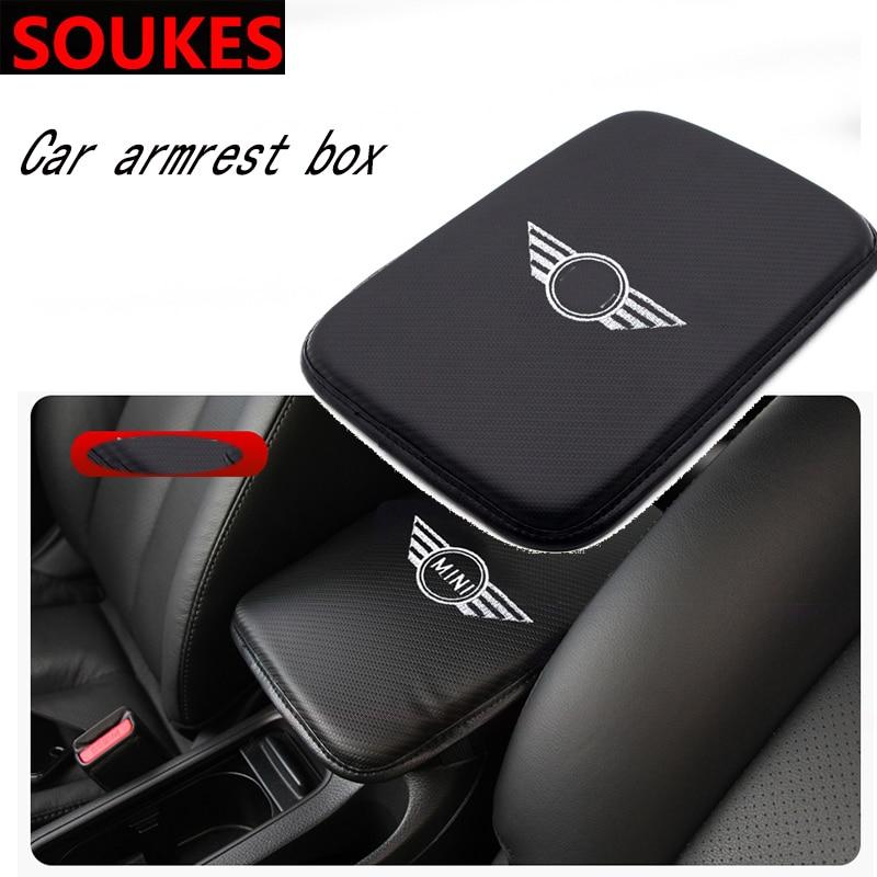 Car Emblem Non-slip Armrest Box Mats Pad For BMW MINI Cooper S R53 R55 R56 R57 R58 R59 f55 f56 Countryman R50 R52 R61 R62 R60