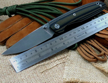 Popular EDC Tool F33 Bearing folding knife D2 blade G10 handle Outdoors camping hunting pocket fruit knives
