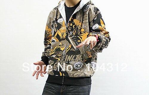 Uomo hip hop Giacca Con Cappuccio Felpa Con Cerniera Abbigliamento street Rhino