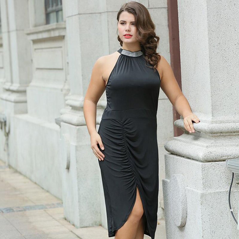Large size sexy elegant knit dress extra large fat asymmetrical female dress free shipping in Dresses from Women 39 s Clothing