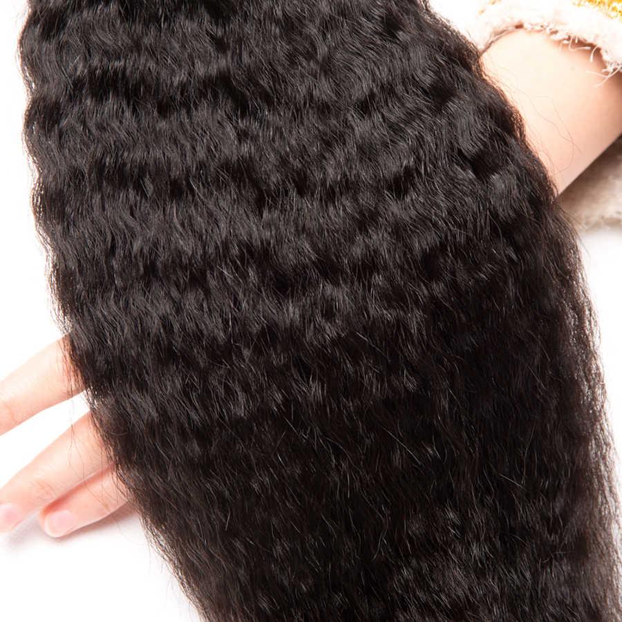 Alipop Haar Bundels Peruaanse Kinky Steil Haar 3 Bundels Menselijk Haar Bundels Remy Hair Extensions Weave Kan Worden Geverfd