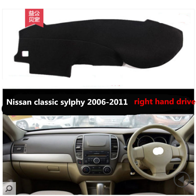 Car Dashboard Pad Right Hand Drive For Nissan Classic Sylphy 2006-2011 For Nissan