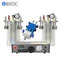 Free Shipping Automatic Liquid Glue Dispenser Set Including Glue Dispensing Machine+Dual Valve Big Flow+2 Pcs 1L Pressure Tank