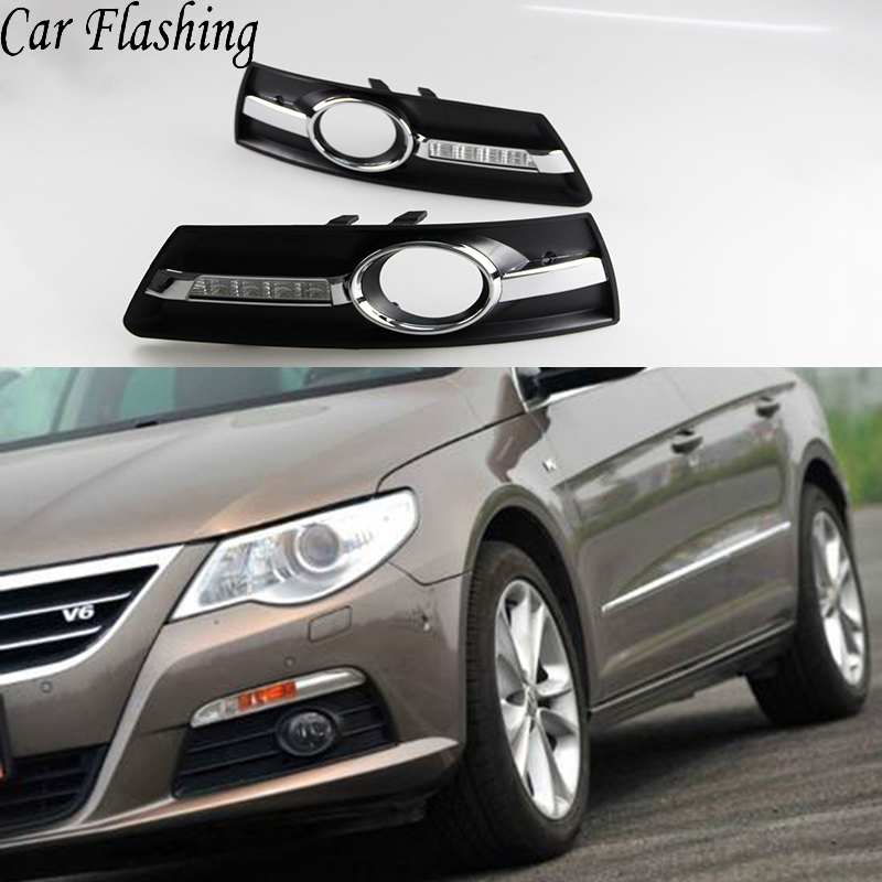 Car Flashing 2Pcs DRL for VW PASSAT CC 2009 2010 2011 2012 2013 12V LED CAR