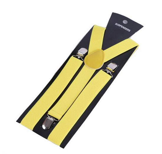 More Color For Choose New Mens Womens Unisex Clip-on Suspenders Elastic Y-Shape Adjustable Braces Colorful- 0055 10
