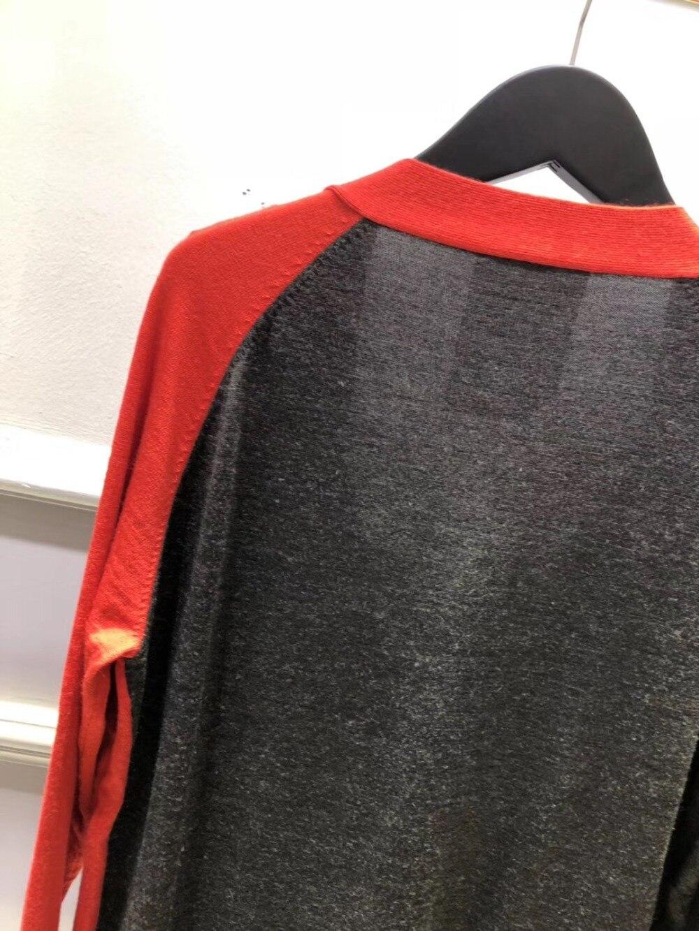 Femmes Long Ddxgz2 Cardigan 2018 Chandail Mode Patchwork Nouveau qwtHUO