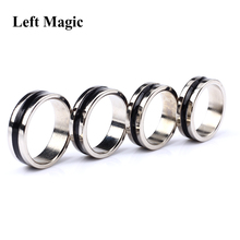 Black Circle Pk Ring Magic Tricks Strong Magnetic Magnet Ring Coin Finger Decoration 18/19/20/21mm Size Magic Ring Props Tools
