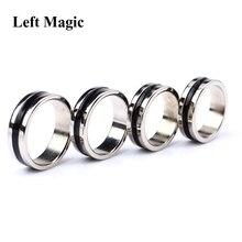 Zwarte Cirkel Pk Ring Magic Tricks Sterke Magnetische Magneet Ring Coin Vinger Decoratie 18/19/20/21mm Size Magic Ring Props Gereedschap